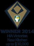 HIA Winner 2014 Victoria Kitchen up to $30,000
